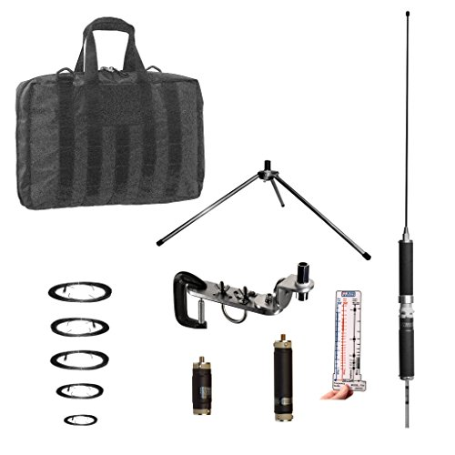 Super Antenna MP1DXMAX Dual HF Plus 2 Meter Bands SuperWhip Tripod All Band  Antenna with Clamp Mount and Go Bag ham Radio Amateur